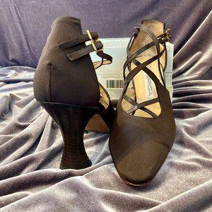 Via Spiga Double Strapped Cocoa Heels